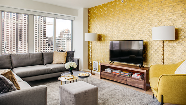 TV at The Paramount Serviced Apartments
