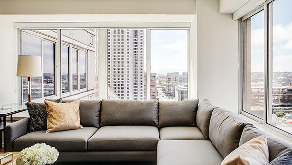 Corner sofa at The Paramount Serviced Apartments