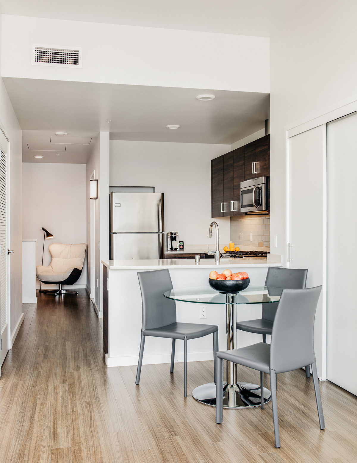 Dining table at Van Ness Serviced Apartments