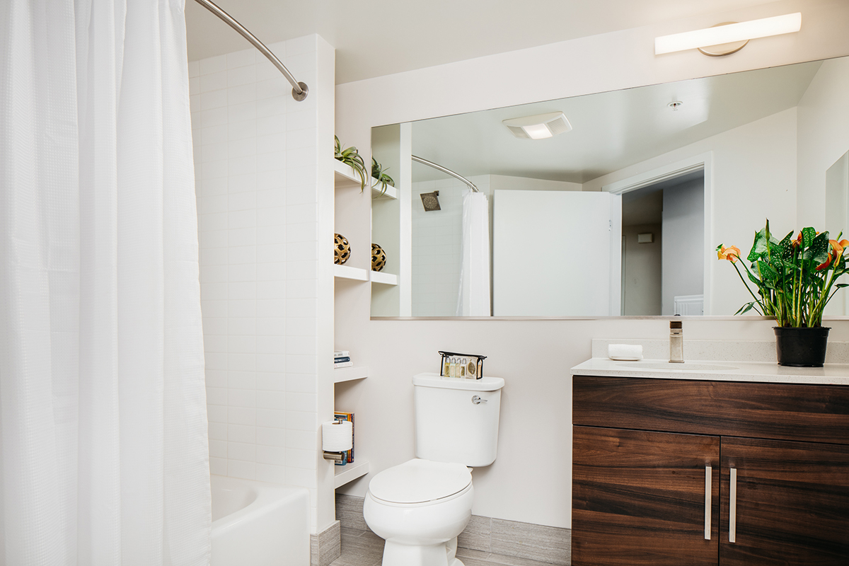Bathroom at 150 Van Ness Apartments