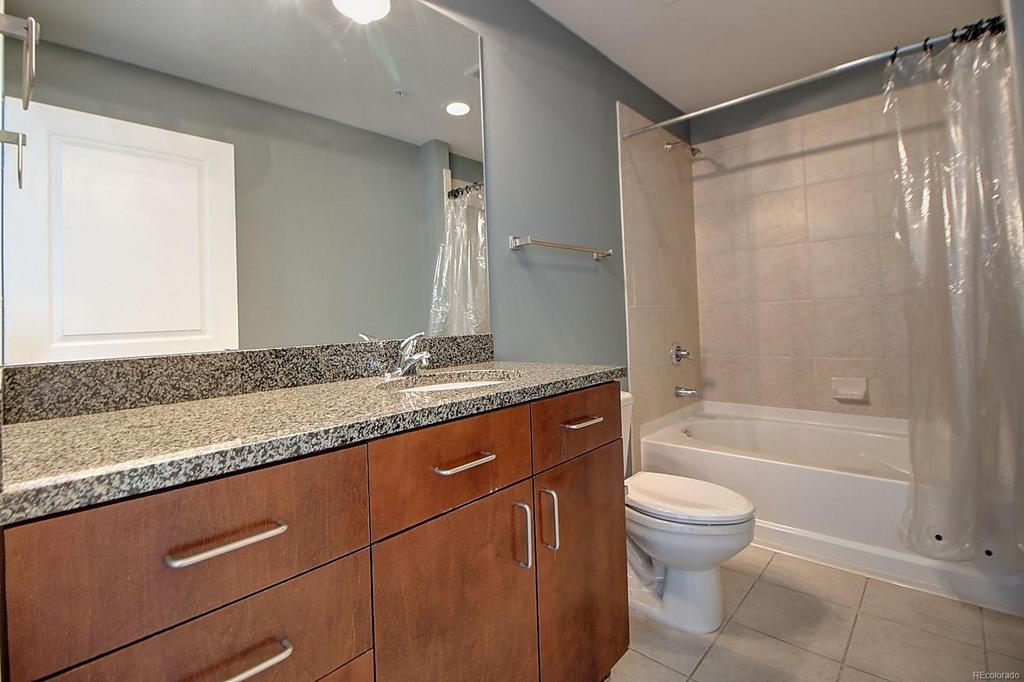 Bathroom at  Glass House Apartments