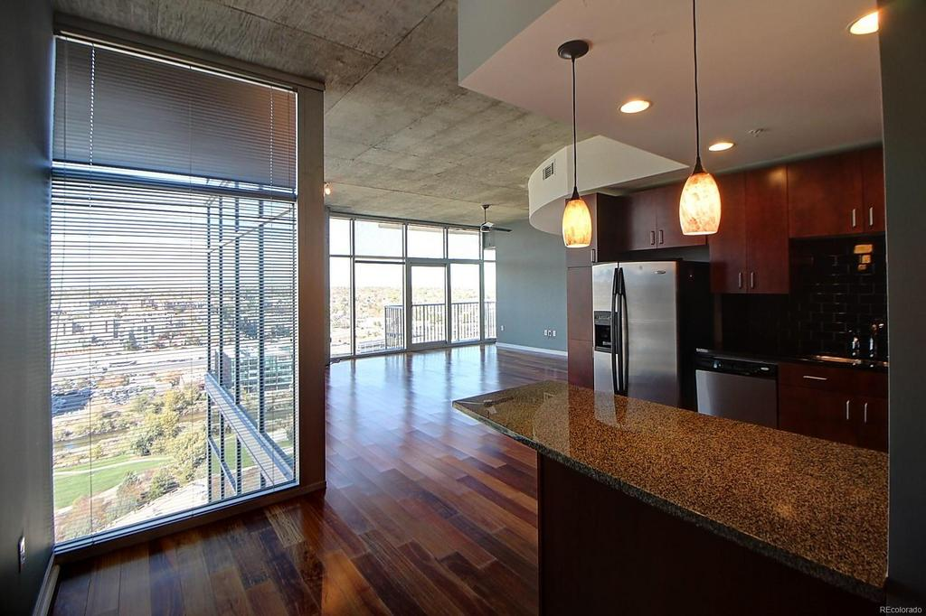 Kitchen at  Glass House Apartments