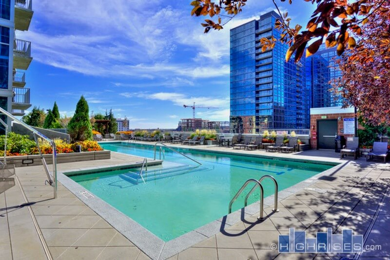 Pool at  Glass House Apartments