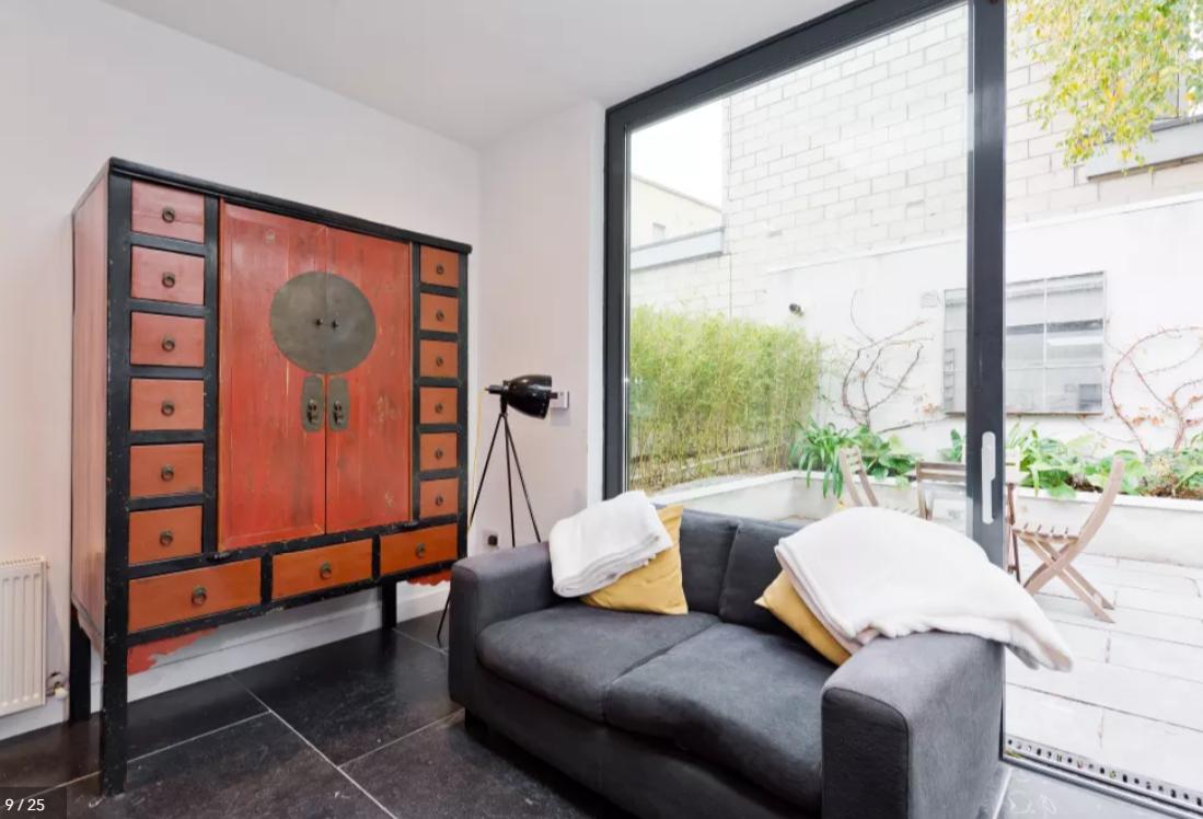 Sofa at Modern Gran Canal Apartment