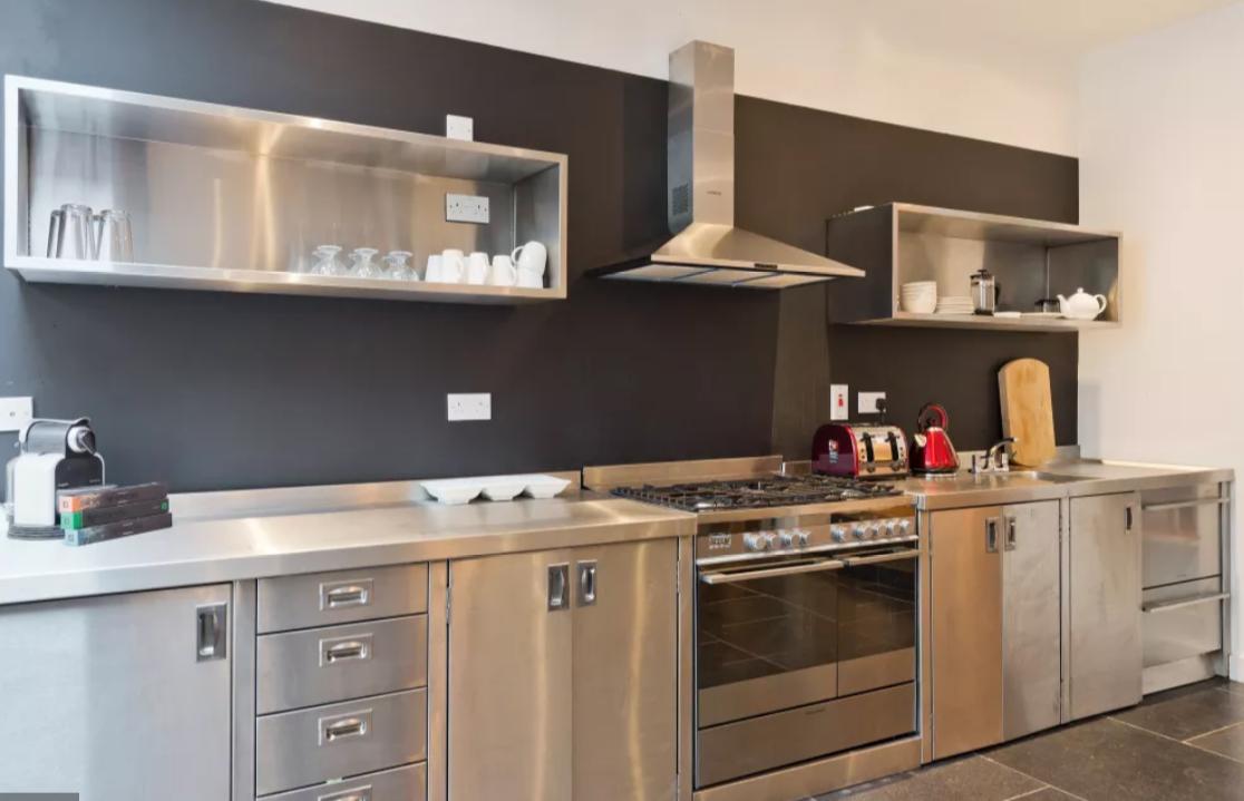 Kitchen at Modern Gran Canal Apartment