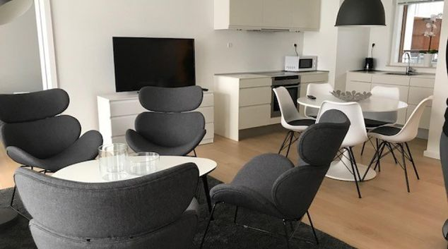 Living area at Amerika Plads Apartments