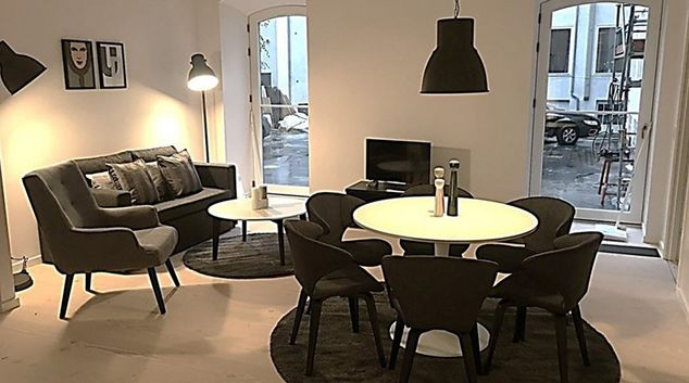 Living room at Longangstraede Apartment