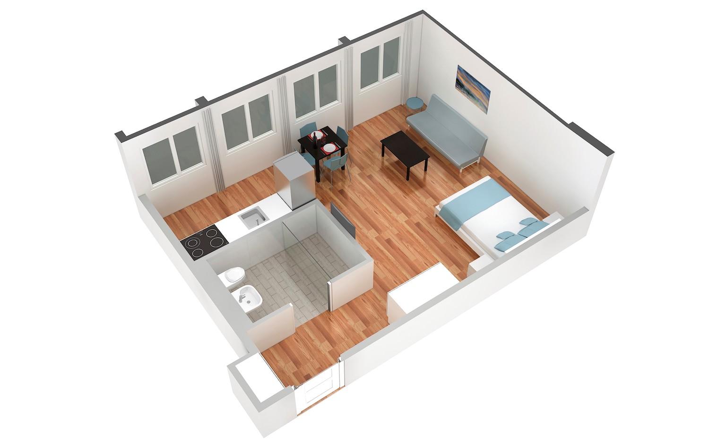 Floor plan 2 at Marktplatz Apartments