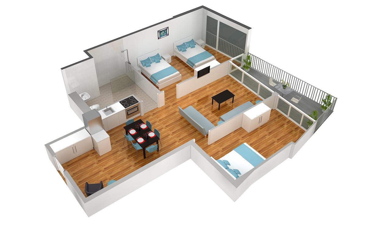 Floor plan 4 at Marktplatz Apartments