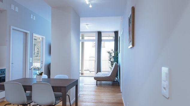 Living room at Marktplatz Apartments