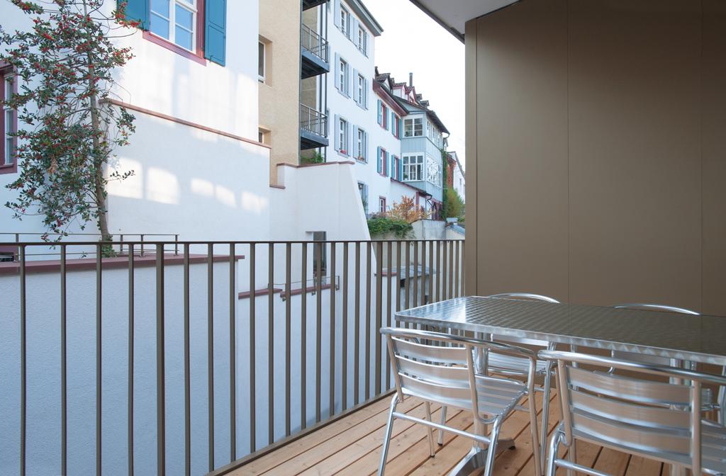 Balcony at Marktplatz Apartments