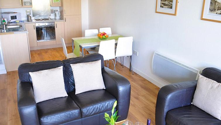 Open plan kitchen at Ocean Serviced Apartments