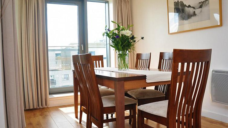 Dining space at Ocean Serviced Apartments