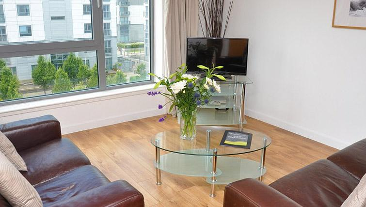 Living room at cean Serviced Apartments