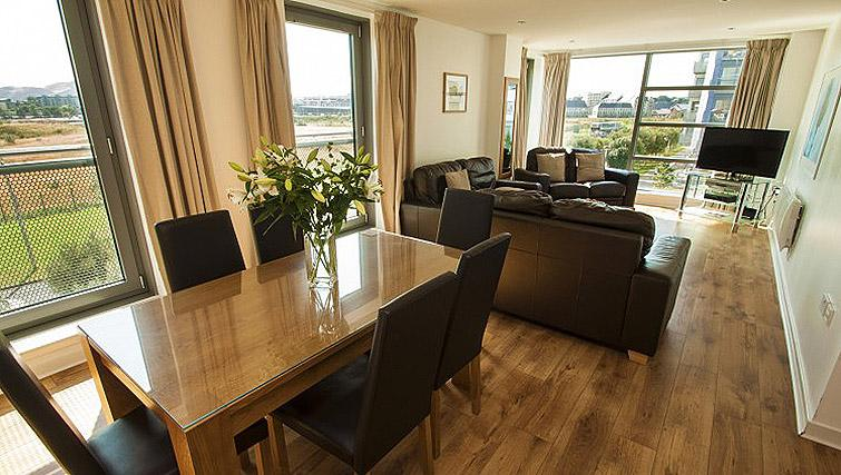 Living space at Ocean Serviced Apartments