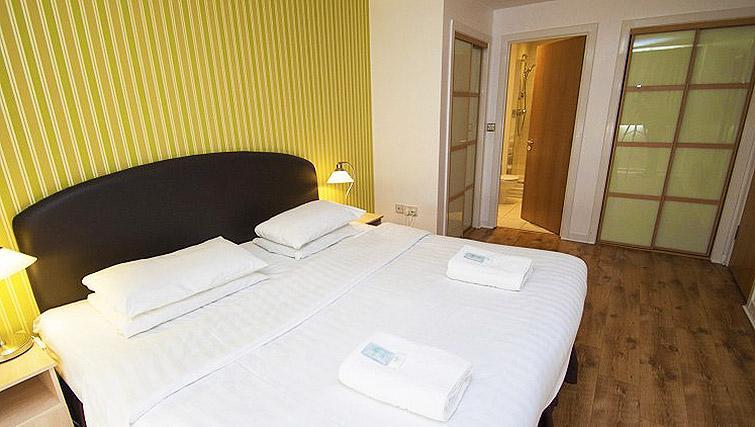 Master bedroom at Ocean Serviced Apartments