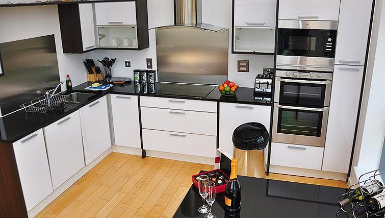 Executive kitchen at Ocean Serviced Apartments