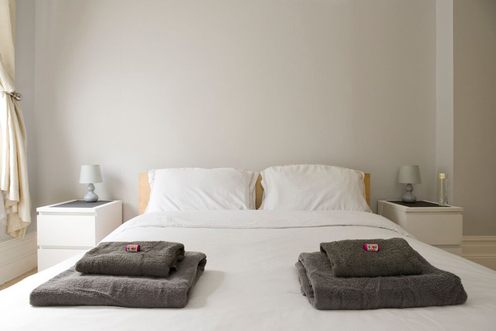 Cosy bedroom at Gardens View Apartments