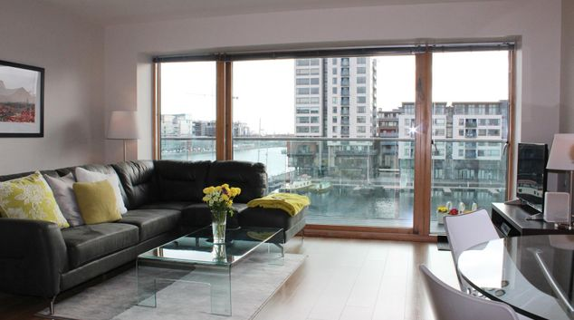 Living room at Gallery Quay Apartment