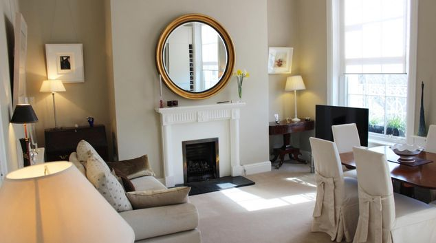 Living room at Warrington Place Apartment