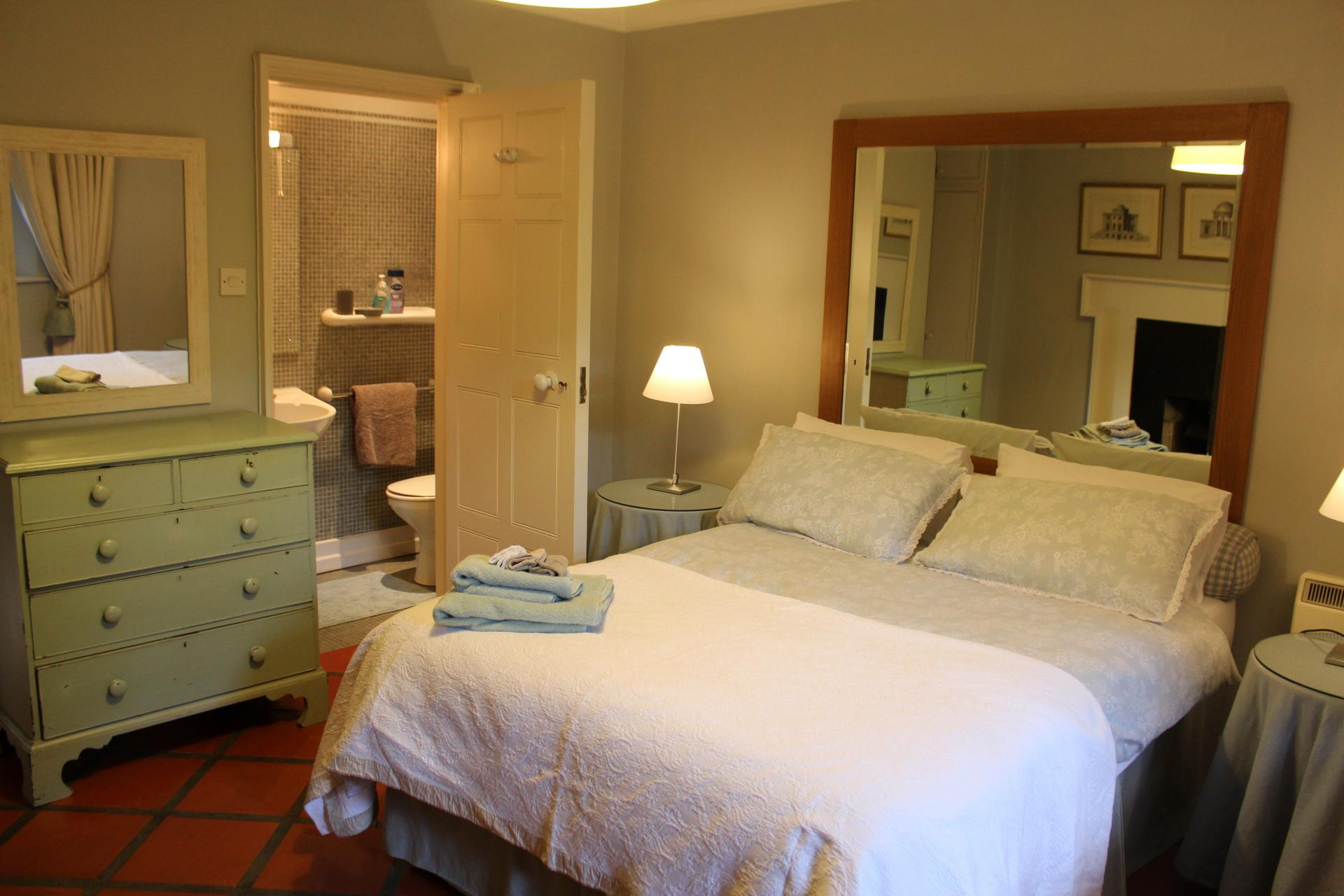 Double bed at Lesson Street Apartment