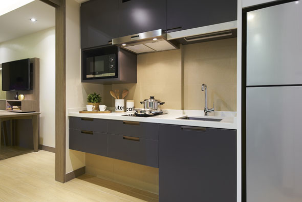 Kitchen at Oasia Residence Apartments, Singapore