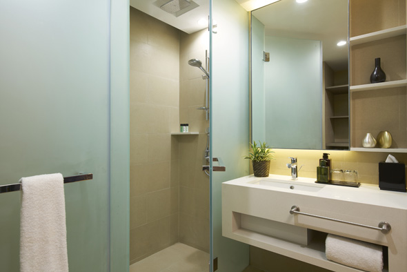 Bathroom at Oasia Residence Apartments, Singapore