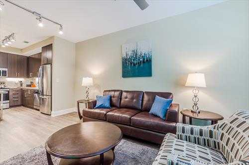 Lounge at the Post Centennial Park Apartments