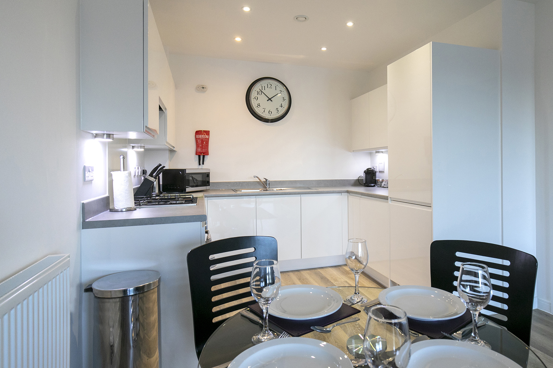 Kitchen at Wey Corner Apartment, Centre, Guildford