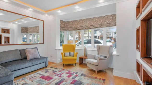 Living room at Aquitane House