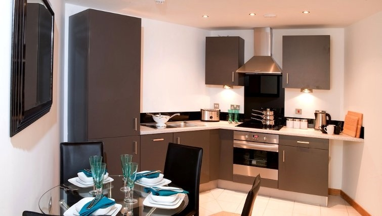 Spacious kitchen in Vivo Serviced Apartments