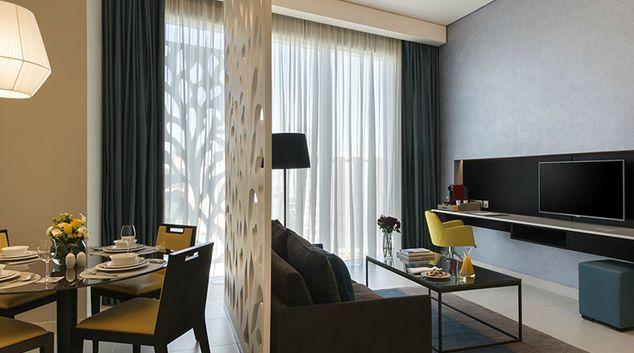 Living room at Fraser Suites Riyadh