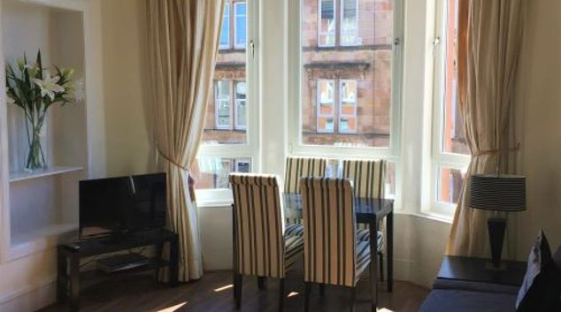 Living area at Trefoil Apartment