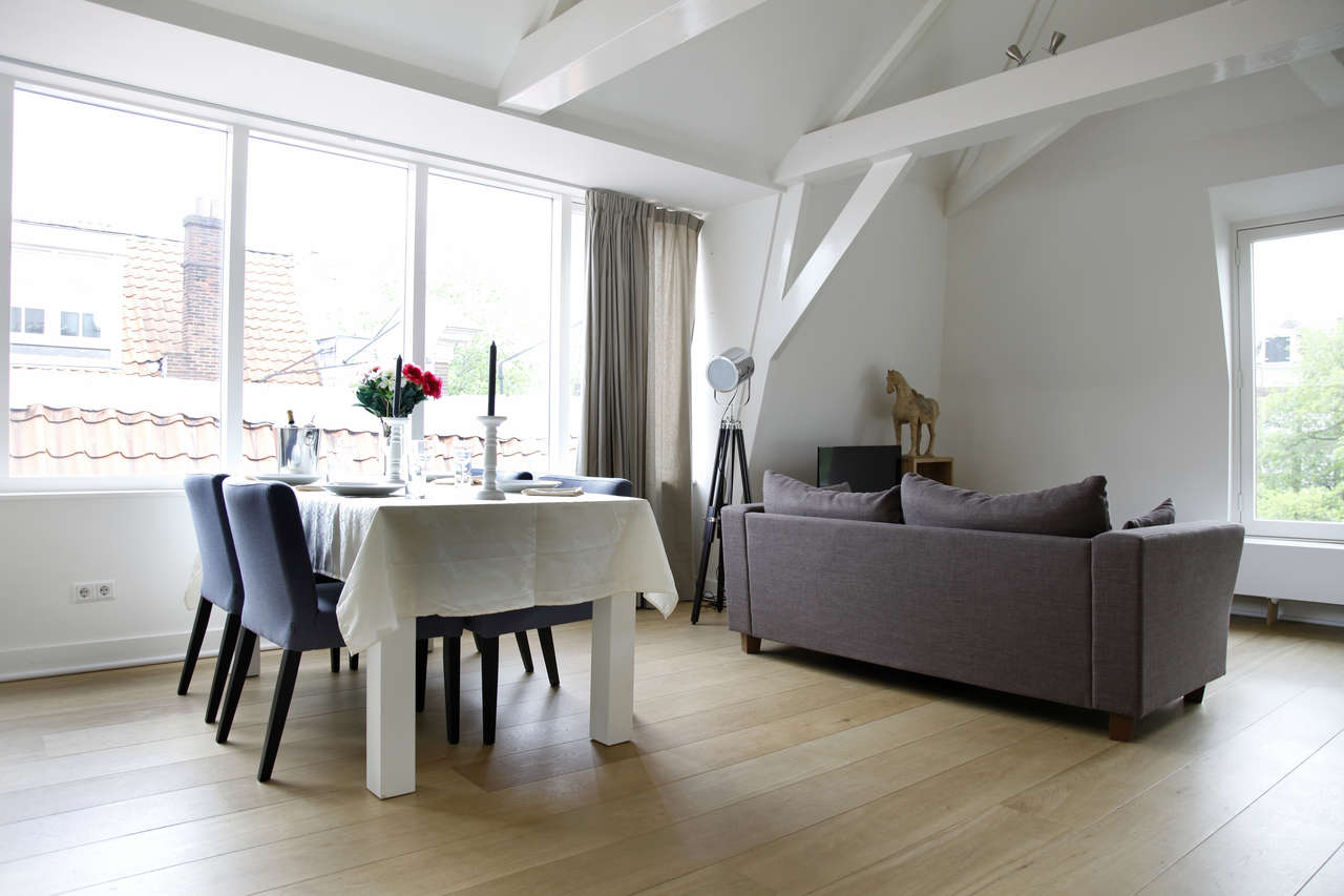 Dining table at Le Petit Prince IV Apartment, Amsterdam