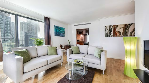 Living room at Riverside Serviced Apartment