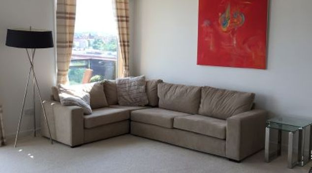 Living area at Glasgow Harbour Serviced Apartment