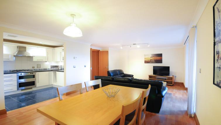 Dining area in Charter Apartments