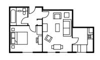 Studio floor plan at The Knight Residence, Old Town, Edinburgh