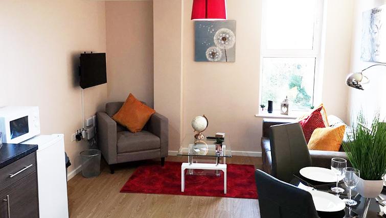 Living room at Metropolitan House Serviced Apartments