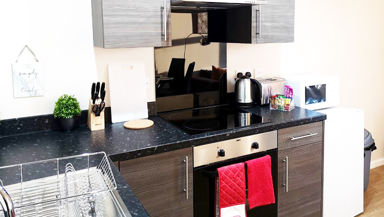 Kitchen at Metropolitan House Serviced Apartments