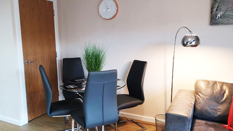Dining table at Metropolitan House Serviced Apartments