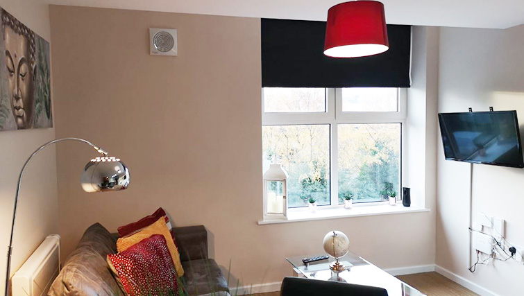 Comfortable living room at Metropolitan House Serviced Apartments