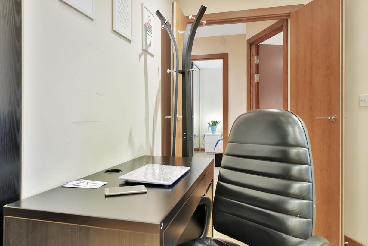 Desk at Cuba Street Apartment