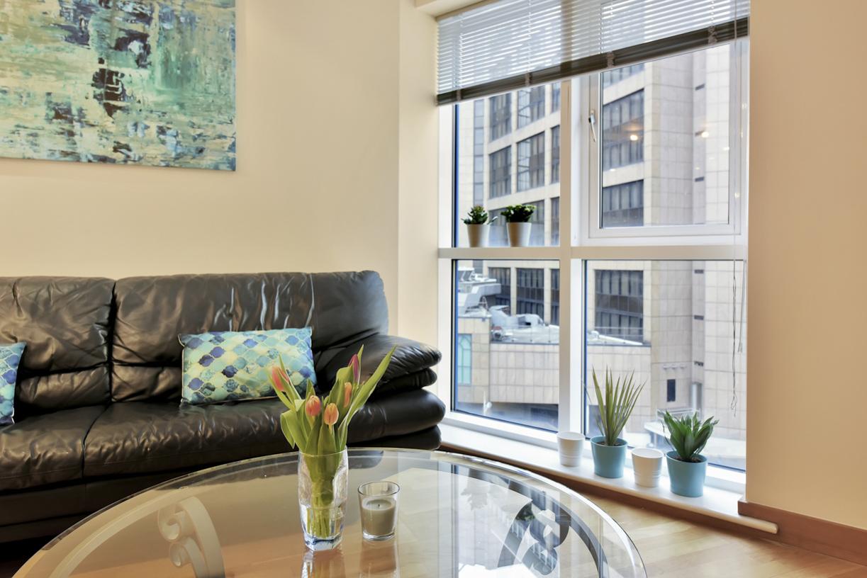 Sofa at Cuba Street Apartment