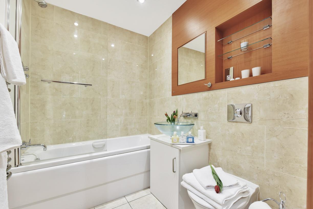 Bathroom at Cuba Street Apartment