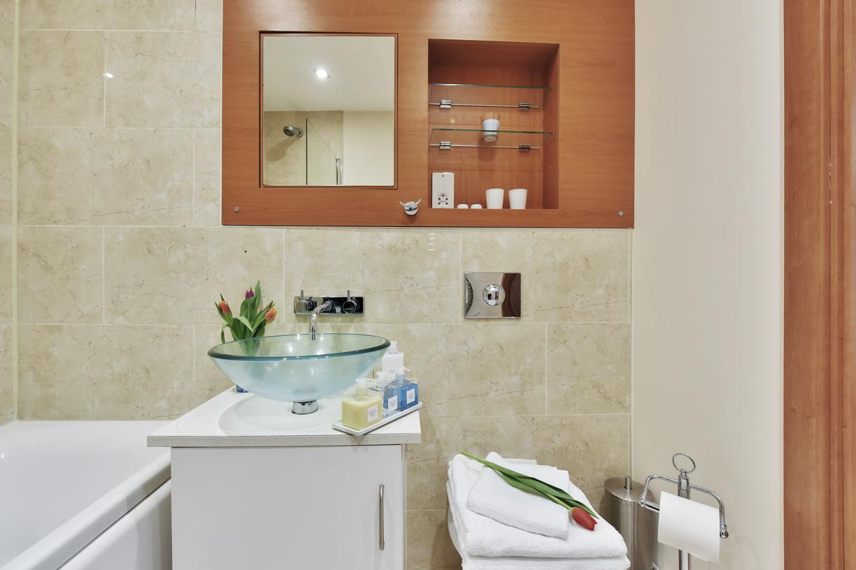 Modern bathroom at Cuba Street Apartment