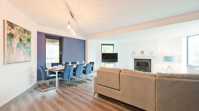 Living area at Grand Saint Patrick Court Apartment