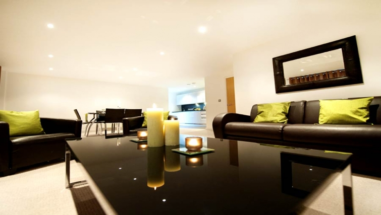 Beautiful living area at Lever Court Apartments