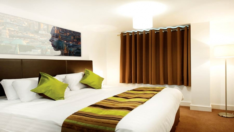 Spacious bedroom at Lever Court Apartments