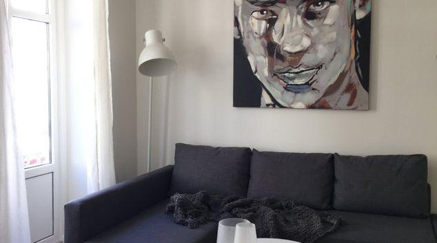 Living room at Skindergade Apartment